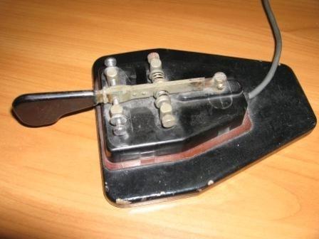 горизонтальный телеграфный ключ