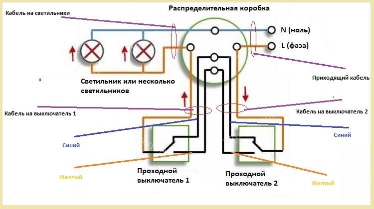схема проходного переключателя 1