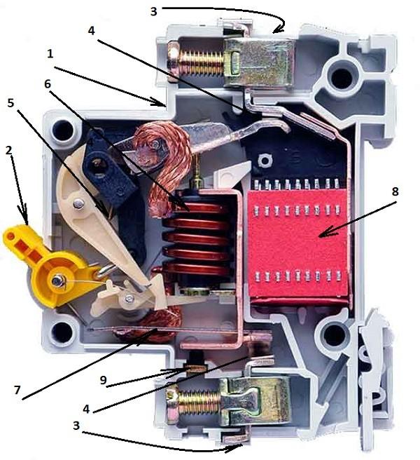 устройство автоматического выключателя 1